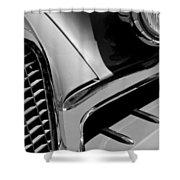 1957 Studebaker Golden Hawk Hardtop Grille Emblem Shower Curtain