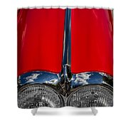 1958 Chevrolet Corvette Headlights Shower Curtain