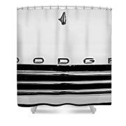 1958 Dodge Sweptside Truck Grille Shower Curtain