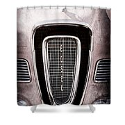 1958 Edsel Pacer Grille Emblem - Hood Ornament Shower Curtain