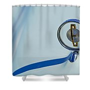 1958 Edsel Ranger Hood Ornament Shower Curtain