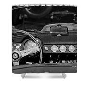 1958 Ferrari 250 Gt Lwb California Spider Steering Wheel Emblem -  Dashboard Shower Curtain