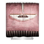 1959 Aston Martin Db Mk IIib Drophead Coupe Emblem Shower Curtain