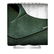 1959 Aston Martin Db4 Gt Hood Emblem Superleggera Shower Curtain