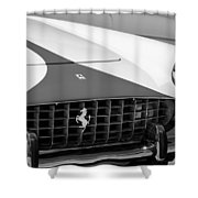 1959 Ferrari 250 Gt Coupe Grille Emblems Shower Curtain