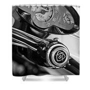 1959 Fiat Bianchina Semi-convertible Series II Steering Wheel Shower Curtain