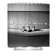 1959 Ford Fairlane 500 Emblem Shower Curtain