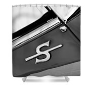 1959 Jaguar Xk150sots Emblem Shower Curtain