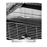 1960 Aston Martin Db4 Grille Emblem Shower Curtain by Jill Reger