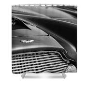1960 Aston Martin Db4 Series II Grille - Hood Emblem Shower Curtain