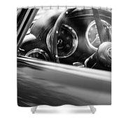 1960 Aston Martin Db4 Series II Steering Wheel Shower Curtain