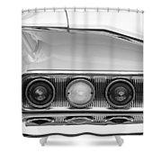 1960 Chevrolet Impala Tail Lights Shower Curtain