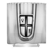 1960 Desoto Fireflite Two-door Hardtop Hood Ornament Shower Curtain