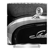 1960 Ford Galaxie Starliner Hood Ornament - Emblem Shower Curtain by Jill Reger