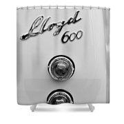 1960 Lloyd 600 Taillight Emblem Shower Curtain