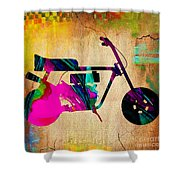 1960's Mini Bike Shower Curtain