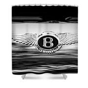 1961 Bentley S2 Continental - Flying Spur - Emblem Shower Curtain