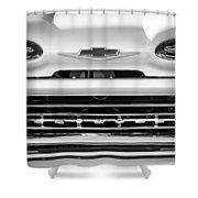1961 Chevrolet Grille Emblem Shower Curtain