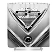 1961 Chevrolet Ss Impala Emblem Shower Curtain