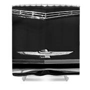 1961 Ford Thunderbird Hood Emblem Shower Curtain