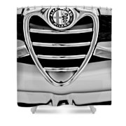1962 Alfa Romeo Giulietta Coupe Sprint Speciale Grille Emblem Shower Curtain