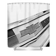 1962 Chevrolet Belair Emblem Shower Curtain