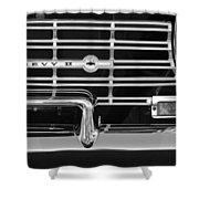 1962 Chevrolet Nova Grille Emblem Shower Curtain