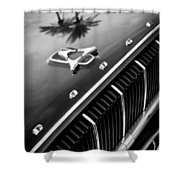 1962 Dodge Polara 500 Grille - Hood Emblem Shower Curtain