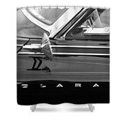 1962 Dodge Polara 500 Side Emblem Shower Curtain