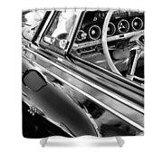 1962 Dodge Polara 500 Side Emblem - Steering Wheel Shower Curtain