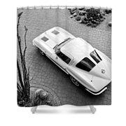 1963 Chevrolet Corvette Split Window -440bw Shower Curtain