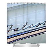 1963 Ford Falcon Futura Convertible  Emblem Shower Curtain by Jill Reger
