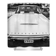 1964 Ford Thunderbird Painted Bw  Shower Curtain
