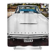 1964 Ford Thunderbird Painted Shower Curtain
