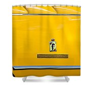 1965 Ferrari 275gts Emblem Shower Curtain