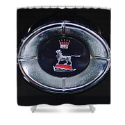 1965 Sunbeam Tiger Grille Emblem Shower Curtain