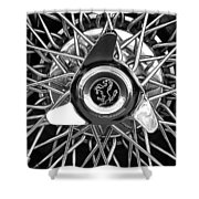 1966 Ferrari 330 Gtc Coupe Wheel Rim Emblem Shower Curtain