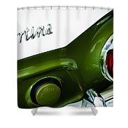 1966 Lotus Cortina Mk1 Taillight Emblem Shower Curtain
