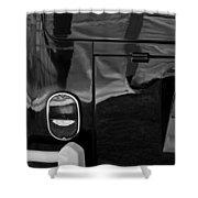 1966 Volkswagen 21-window Microbus Taillight Emblem Shower Curtain