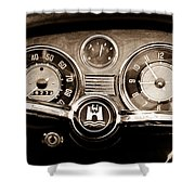 1966 Volkswagen Vw Karmann Ghia Steering Wheel Shower Curtain