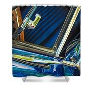 1967 Chevrolet Camaro Ss 350 Rear View Mirror Emblem Shower Curtain