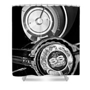 1967 Chevrolet Camaro  Ss Steering Wheel Emblem Emblem Shower Curtain