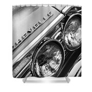 1967 Chevrolet Chevelle Malibu Head Light Emblem Shower Curtain