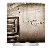 1967 Chevrolet Chevelle Super Sport Taillight Emblem Shower Curtain