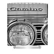 1967 Chevrolet El Camino Pickup Truck Headlight Emblem Shower Curtain