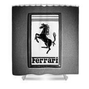 1967 Ferrari 330 Gts Emblem Shower Curtain