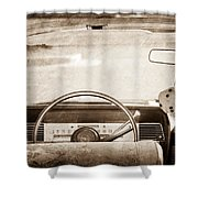 1967 Lincoln Continental Steering Wheel Shower Curtain