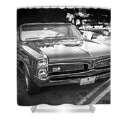 1967 Pontiac Gto Bw Shower Curtain