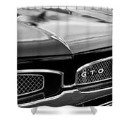 1967 Pontiac Gto Grille Emblem Shower Curtain