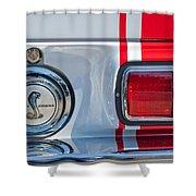 1968 Ford Mustang Fastback 427 Ci - Cobra Emblem Shower Curtain
